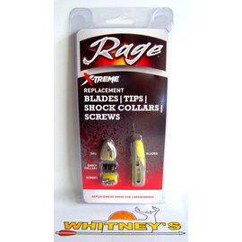 Rage Slip Cam Rage 2 Blade Xtreme Replacement Blades / Broadheads - R51005