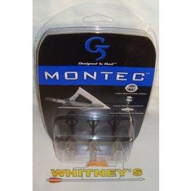 G5 G5 Montec 3 Blade 85 Grain Broadhead-3 PK-116