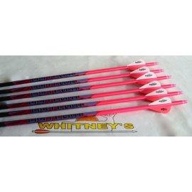 Black Eagle Black Eagle Outlaw Arrows - Pink Crested - 400- 6PK