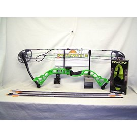 """BowTech Diamond by Bowtech - Prism Neon Green Package- Right Hand 5-55# 18-30"""" Draw"""