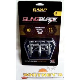"""New Archery Products (NAP) NAP Slingblade 100 Gr. Trophy Tip - 1 7/8"""" Cut-#60-142"""