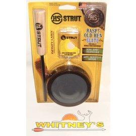 Hunter Specialties (HS) HS Strut Pan Call Raspy Old Hen Slate W/ Diaphragm Call-07010
