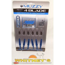 Muzzy Products Muzzy 100GR 4 Blade 6 Pack-209