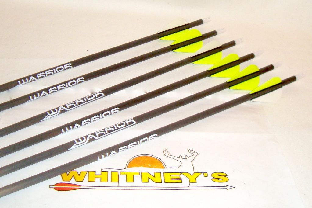 Gold Tip Warrior 340 Spine 6-Pack Archery Bow Hunting Arrows