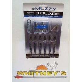 Muzzy Products Muzzy 3 Blade 125 Grain Broadhead -235- 6 pack