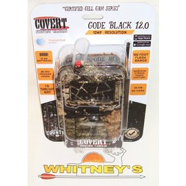 Covert Scouting Cameras, Inc. Covert Scouting Camera Code Black 12.0, AT&T Certified Long Range Invisible IR, 12 MP, Wireless - MossyOak Camo-5144