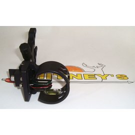 Cobra Cobra Bushwhacker 3 Pin Fiber Optic Sight With Light Black Ambidextrous C-675BLK