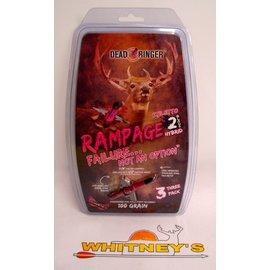 "Dead Ringer LLC Dead Ringer Rampage Stilletto 100 Grain -2 Blade-1.5"" 3PK-DR4965"