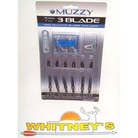 Muzzy Products Muzzy 3 Blade 75 Grain 3 Blade Broadhead-207