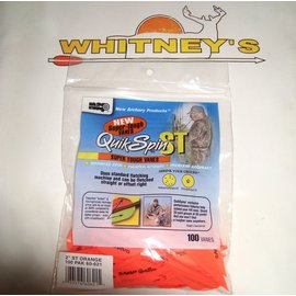 """New Archery Products (NAP) NAP 2"""" QuikSpin ST -100 Pack- Orange- 60-621"""