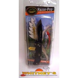 Outdoor Edge Outdoor Edge Razor Pro- 2 Blade Razor & Cutting Knife w/ Sheath- Black #RO-10C