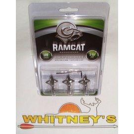 "Fulton Precision Archery LLC. Ram Cat - 100 Grain-1 1/16"" -by Smoke Broadheads DiamondBack-RAM100DB"
