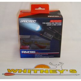 Nebo NEBO iProtec Rail-Mounted Firearm Light/Red Laser RM190LSR-#6110
