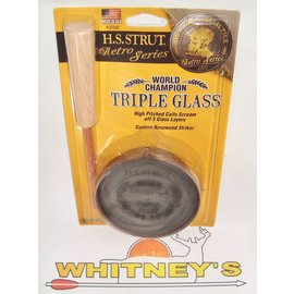 Hunter Specialties (HS) HS Strut Champion Triple Glass Pan Call-07058
