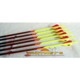 Black Eagle Black Eagle Outlaw Arrows - Yellow Crested - 350 - 6PK