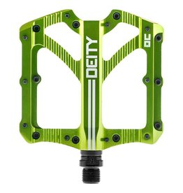 Deity Deity, Bladerunner, Platfrm Pedals, AL-6061 bdy, Cr-M axle, 103mm x 100mm, Green
