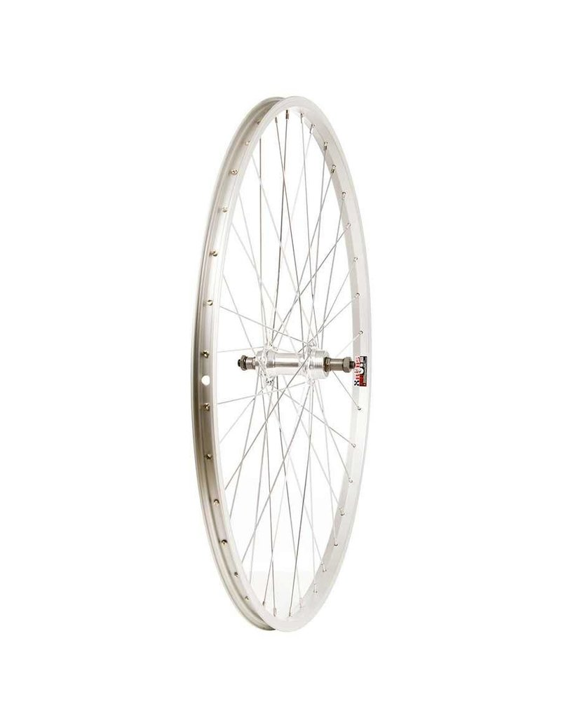 Wheel Shop, Rear 700C Wheel Alex X101 Silver / FM-31 Silver, 36 Steel spokes, QR axle, For freewheel