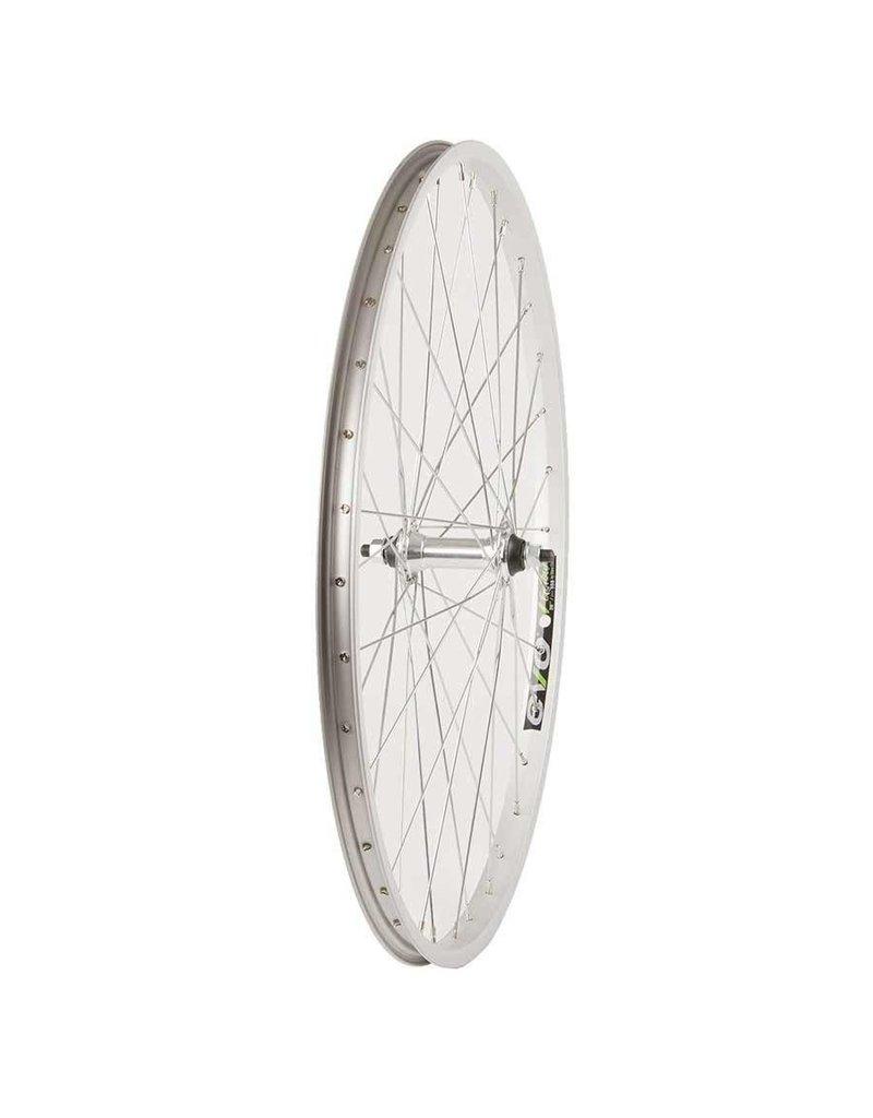 Wheel Shop, Front 26'' Wheel, Evo E-Tour 20 Silver / FM-21, 36 Steel Silver Spokes, Bolt-on