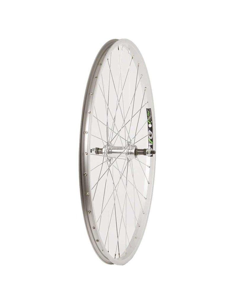 Wheel Shop, Rear 26'' Wheel, Evo E-Tour 20 Silver / FM-31, 36 Steel Silver Spokes, Bolt-on, Freewheel, FW