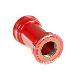 WheelsMfg Wheels Manufacturing, Pressfit 86/92, Press-fit, BB Shell: 86/92mm, Dia.: 41mm, Axle: 24/22mm, ABEC 3, Black, BB86/92-SRAM7
