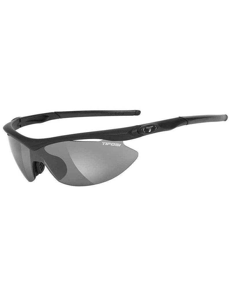 Tifosi Tifosi, Slip, Sunglasses, Frame: Matte Black, Lenses: Smoke, AC Red, Clear