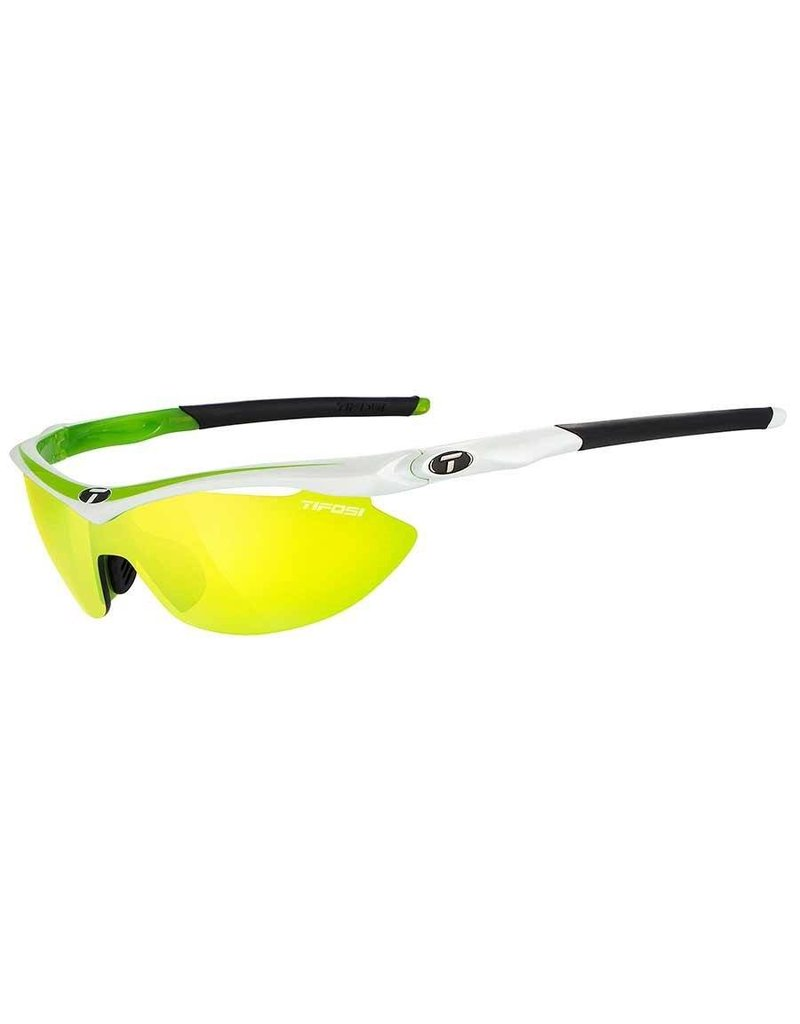 Tifosi Tifosi, Slip, Sunglasses, Frame: White Race Neon, Lenses: Clarion Yellow, AC Red, Clear