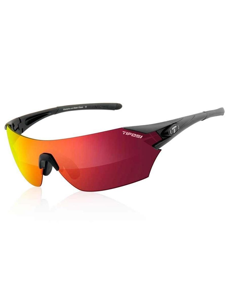 Tifosi Tifosi, Podium, Sunglasses, Frame: Matte Black, Lenses: Clarion Red, AC Red, Clear