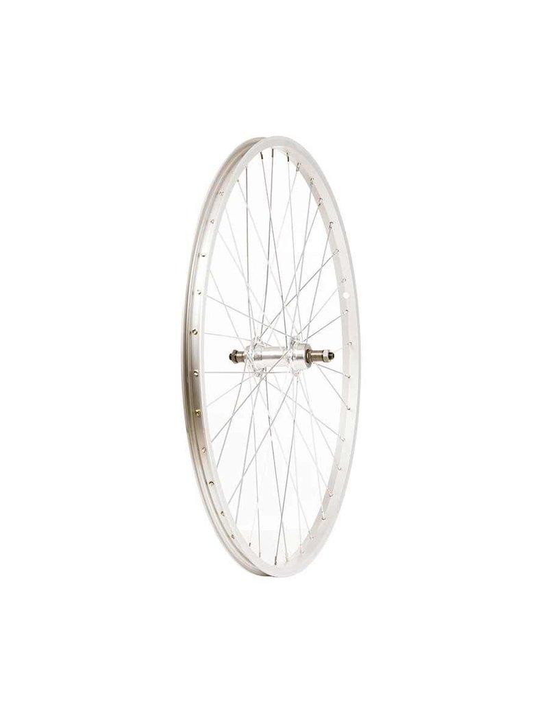 """Wheel Shp, Rear 26"""" Wheel, 36H Silver Ally Single Wall Alex C1000/ Silver Frmula FM-31 QR FW Hub, Steel Spkes"""