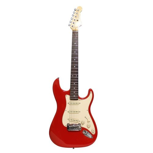 G&L G&L - USA - Legacy - Vint.Tint RW Neck - Parchment PG - Fullerton Red-  w/ Hard Shell Case