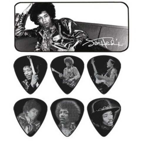 Dunlop Dunlop - Jimi Hendrix Silver Portrait Series - Pick Tin