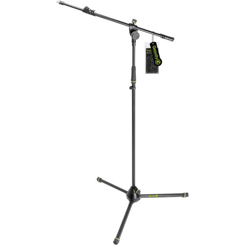 Gravity Stands Gravity Stands - Microphone Stand with Folding Tripod Base - 2 Point Adjustment Telescoping Boom