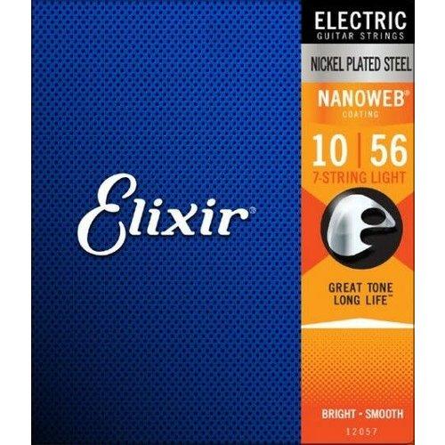 Elixir Elixir - Electric 7 String Nanoweb - Light Strings - 10-56