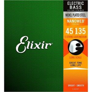 Elixir Elixir - Bass Long Scale - Light / Medium - 5 Strings - 45-135