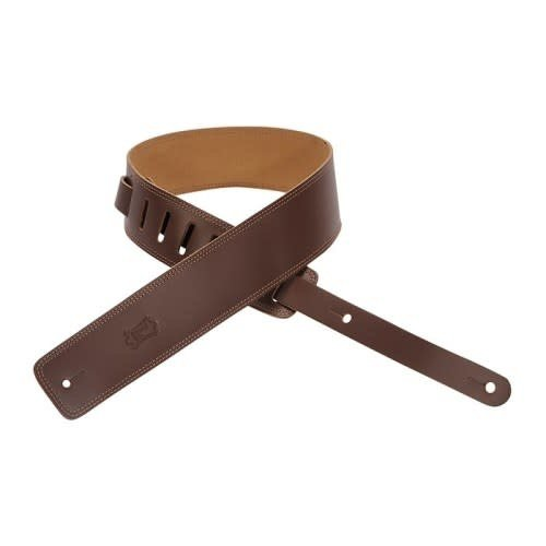 Levy's Leathers Levy's - 2 1/2″ Leather Guitar Strap with suede backing - DM1-BRN