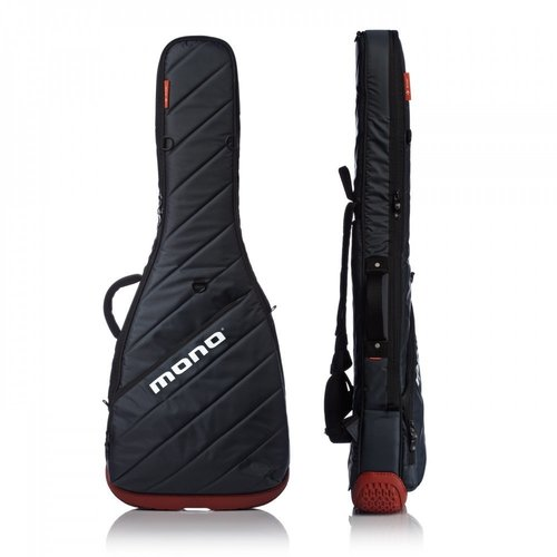 Mono Cases Mono Cases - Vertigo Bass Bag - Steel Grey/Orange