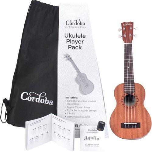 Cordoba Guitars Cordoba - Ukulele Player Pack - Soprano Ukulele  -  Mahogany Natural