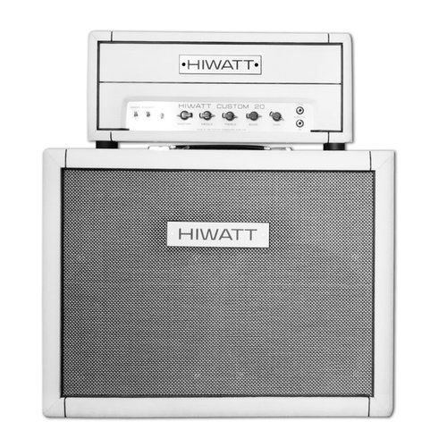 "Hiwatt Hiwatt - 20H Custom Head + Cabinet 2x12"" Fane Speakers 150W- Custom White"