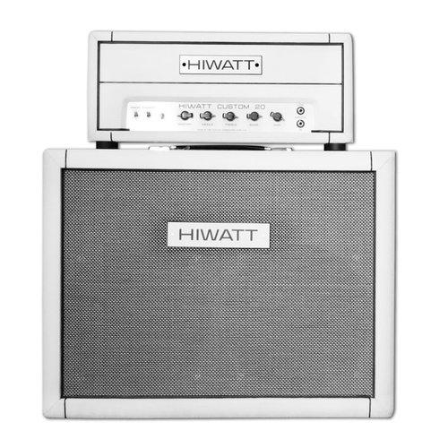 "Hiwatt Hiwatt - 20H Custom Head + Cabinet 2x12"" Fane Speakers 150W- Custom White"