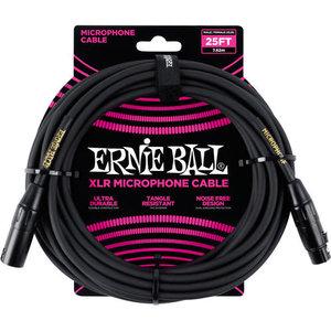 Ernie Ball Ernie Ball -  Microphone Cable - 25ft -  Female to Male XLR  - Black
