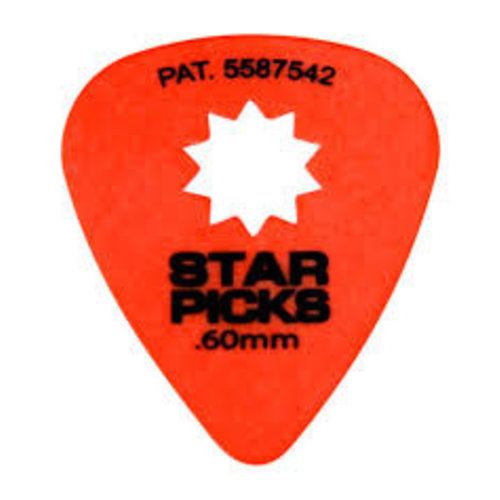 Dunlop Everly - Star Picks -  .60mm - Orange