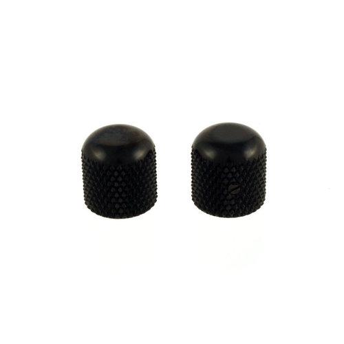 Allparts Allparts - Dome Knobs - Set of 2 - Black