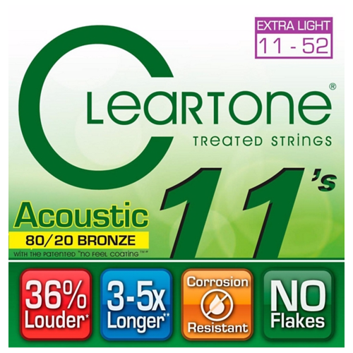 Cleartone - Everly Cleartone - Acoustic  80/20 Bronze Extra Light - 11-52