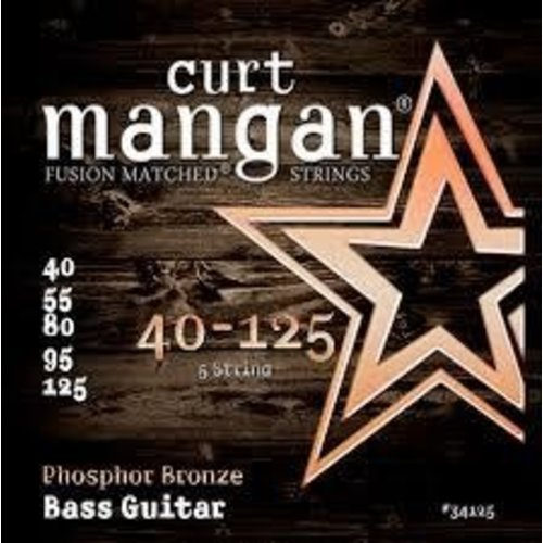 Curt Magnan Curt Mangan - ACOUSTIC BASS Strings - Phosphor Bronze - 5 String -40-125