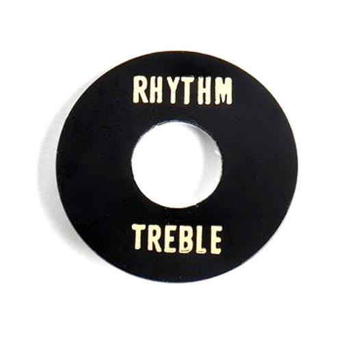 Allparts Allparts - Rhythm/Treble Ring - Toggle Switch - Black