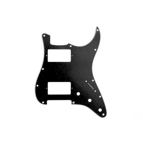Allparts Allparts - 3ply - Stratocaster Pickguard - HH  - 11 hole - Black