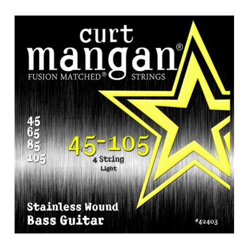 Curt Magnan Curt Mangan - Bass Stainless Wound Light Set 45-105
