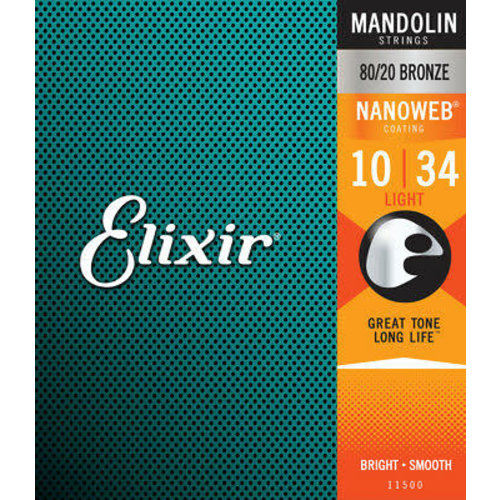 Elixir Elixir - Mandolin Strings - Light - 10-34