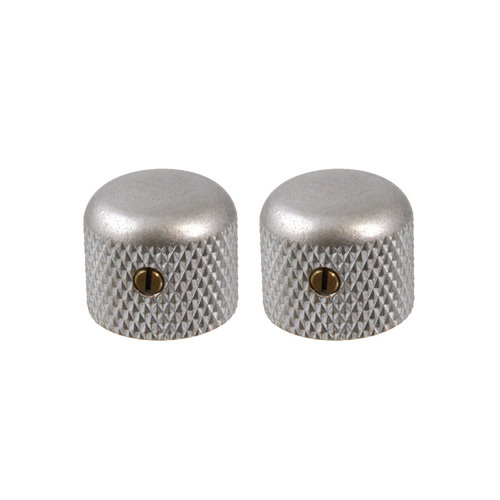 Allparts Allparts - Knobs - Dome Short - Set of 2 - Aged Chrome