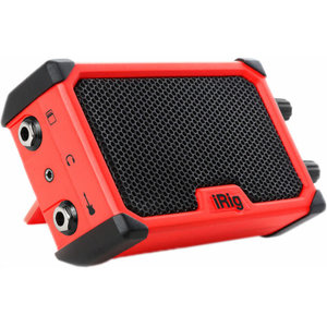 IK Multimedia iRig IK Multimedia - iRig Nano Amp Pocket Guitar - Amplifier with integrated iRig circuit (Red)
