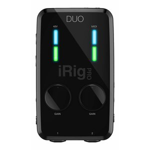 IK Multimedia iRig IK Multimedia - iRig PRO DUO -  2-channel Audio/MIDI Interface for iOS, Android, and Mac/PC